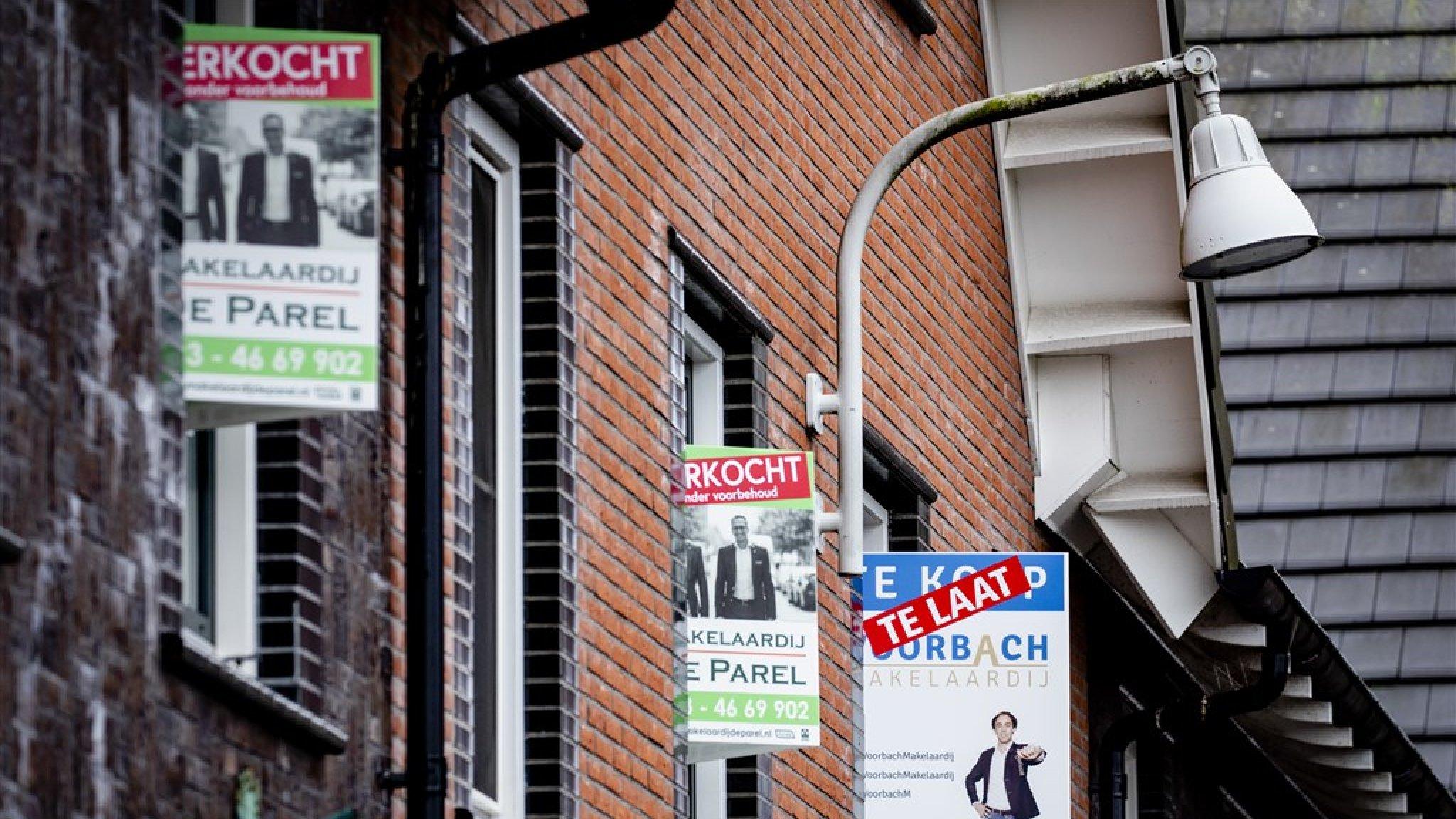 NVM: meer dan de helft van alle woningen wordt boven de vraagprijs verkocht